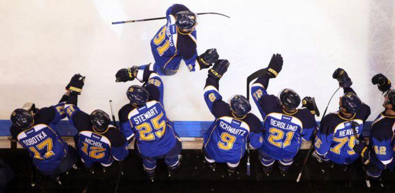 """Нападающий """"Сент-Луиса"""" Владимир ТАРАСЕНКО удачно стартовал в НХЛ. Фото AFP"""