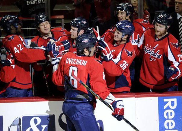 """Вчера. Вашингтон. """"Вашингтон"""" - """"Баффало"""" - 3:2. Александр ОВЕЧКИН: есть первый гол в сезоне НХЛ! Фото AFP"""