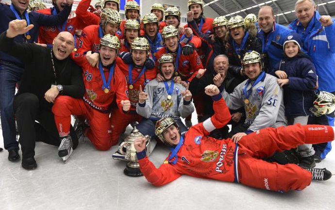 Вчера. Венерсборг. Швеция - Россия - 3:4. Сборная России - чемпион мира! Фото Reuters
