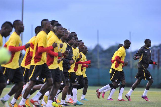 Вчера. Нелспрейт. Тренировка сборной Ганы. Фото AFP