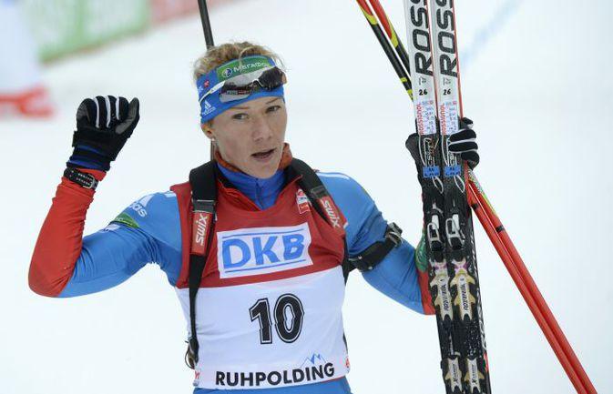 Российская биатлонистка Ольга ЗАЙЦЕВА. Фото AFP