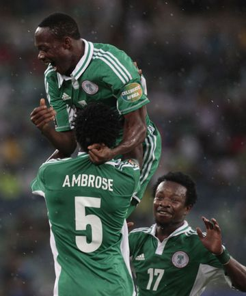 Среда. Дурбан. Мали - Нигерия - 1:4. 60-я минута. Ахмед МУСА празднует свой гол в полуфинальном матче. Фото REUTERS