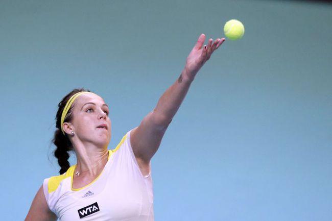 Анастастия ПАВЛЮЧЕНКОВА на турнире в ОАЭ. Фото AFP