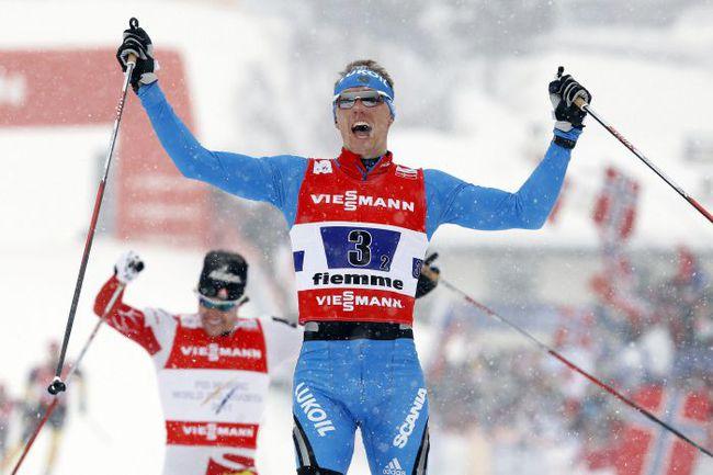 Вчера. Валь-ди-Фьемме. Никита КРЮКОВ - двукратный чемпион мира-2013 в спринте. Можно сказать, лыжный Усэйн Болт. Фото REUTERS