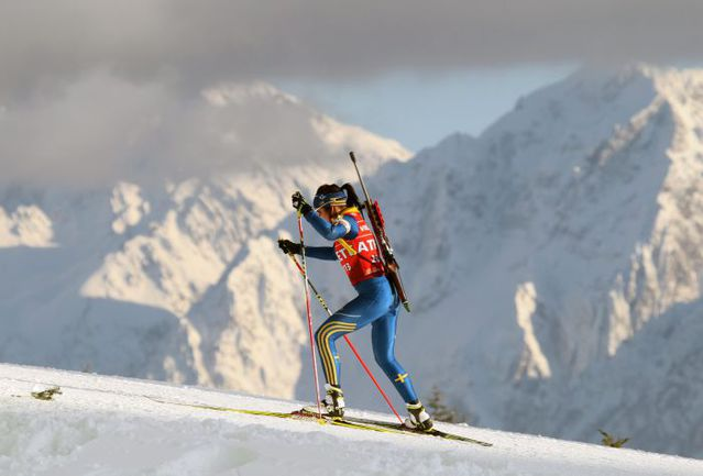 Вот так выглядит биатлон по-сочински. Фото AFP
