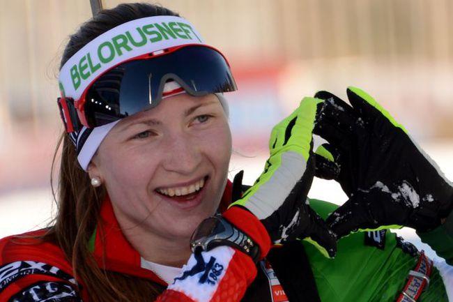 Победительница индивидуальной гонки на восьмом этапе Кубка мира в Сочи Дарья ДОМРАЧЕВА. Фото AFP