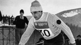 1972 год. Вячеслав ВЕДЕНИН на олимпийской лыжне в Саппоро. Фото Юрия ШАЛАМОВА.