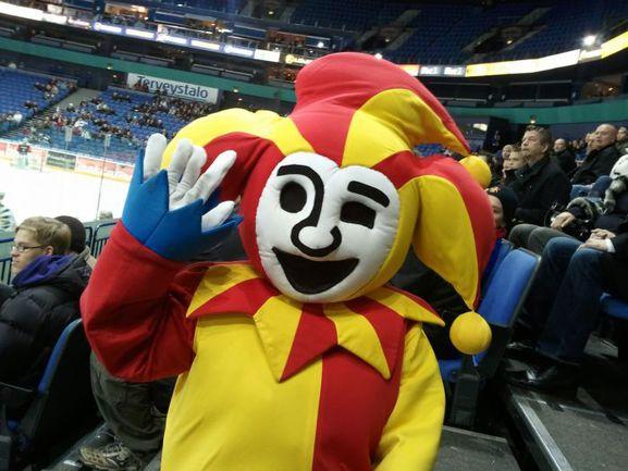"""Хельсинки. Через год символ """"Йокерита"""" будет """"зажигать"""" аудитории """"Хартвалл Арены"""" на матчах не SM-лиги, а КХЛ. Фото HC Jokerit."""