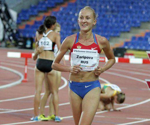 Юлия ЗАРИПОВА уже вошла в историю Универсиад, установив рекорд в беге на 3 000 метров. Фото Александра ВОЛГИНА.