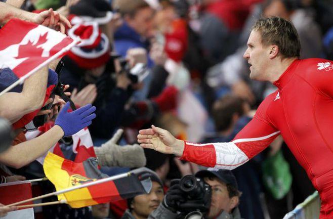 2010 год. Канадский олимпиец Пьер ЛЮДЕРС. Фото AFP