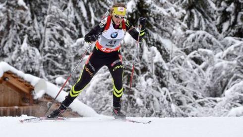 Четверг. Антерсельва. Сенсационная победительница спринта Анаис БЕСКОН. Фото AFP