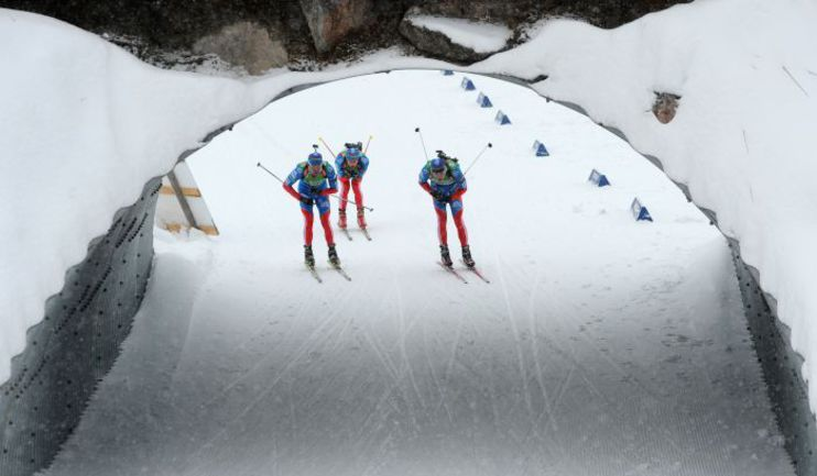 Для Андрея МАКОВЕЕВА, Алексея ВОЛКОВА и Тимофея ЛАПШИНА (слева направо) сегодня один из решающих этапов. Фото Reuters