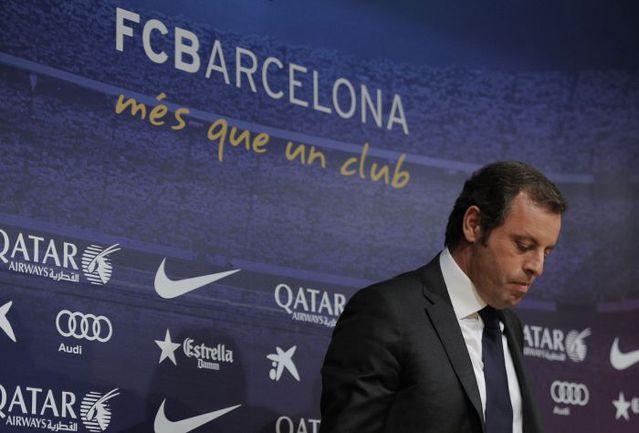 """Теперь уже бывший президент """"Барселоны"""" Сандро РОССЕЛЬ. Фото AFP"""