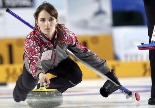 Российская керлингистка Анна СИДОРОВА. Фото AFP