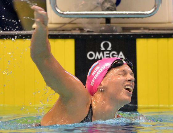 В пятницу Международная федерация плавания официально отстранила от соревнований чемпионку мира Юлию ЕФИМОВУ, в октябре сдавшую положительную допинг-пробу. Фото AFP