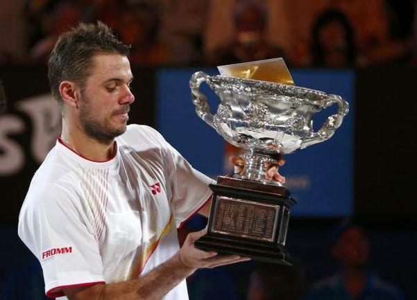 Сегодня. Мельбурн. Швейцарец Станислас ВАВРИНКА стал победителем Australian Open-2014. Фото REUTERS