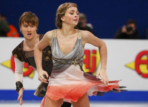 16 января. Будапешт. Виктория СИНИЦЫНА и Руслан ЖИГАНШИН представляют произвольный танец. Фото Reuters