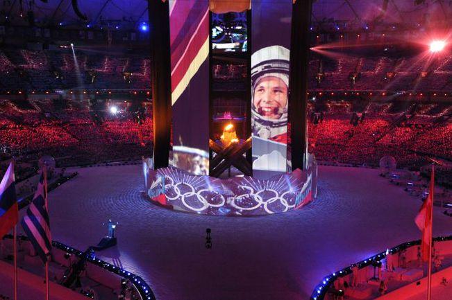 28 февраля 2010 года. Ванкувер. Столица Олимпиады-2010 передает эстафету Сочи-2014. Фото AFP