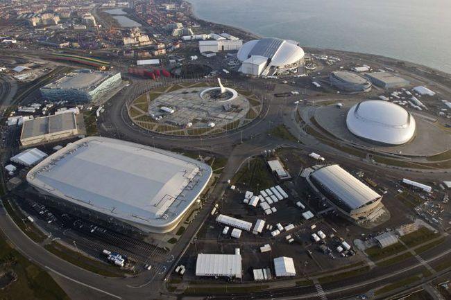 В Имеретинской низменности все олимпийские объекты расположены вокруг медальной площади на минимальном расстоянии друг от друга. Фото REUTERS