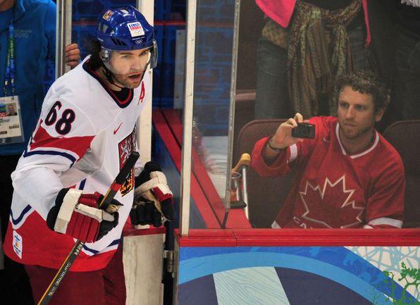 Яромир ЯГР на Олимпиаде в Ванкувере. Фото REUTERS