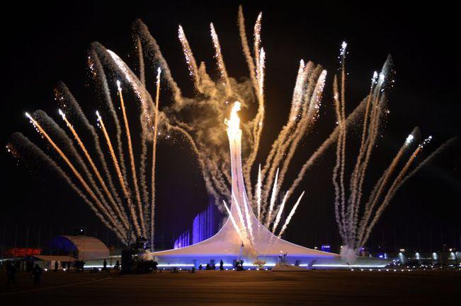 Олимпийский огонь зажжен. Фото AFP