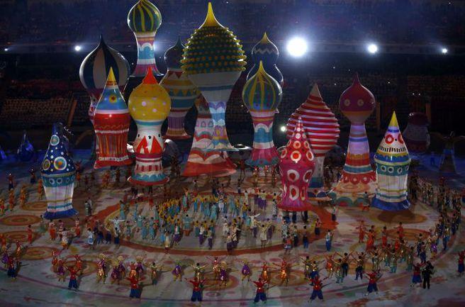 Вчера. Сочи. Церемония открытия Олимпиады. Фото AFP