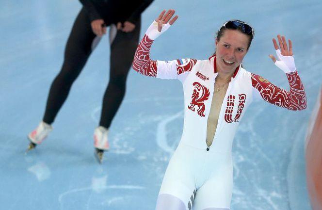 Сегодня. Сочи. Ольга ГРАФ принесла России первую медаль Олимпиады-2014. Фото REUTERS