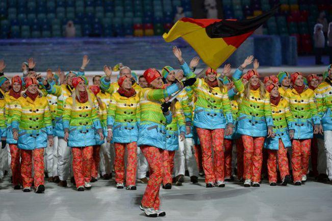 Сборная Германии на открытии Олимпиады в Сочи. Фото AFP