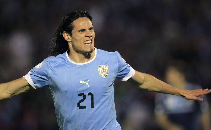 Нападающий сборной Уругвая Эдинсон КАВАНИ. Фото REUTERS