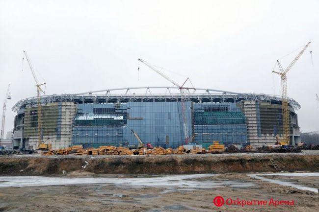 """Строительство стадиона """"Открытие Арена"""". Фото Фото otkritiearena.ru"""
