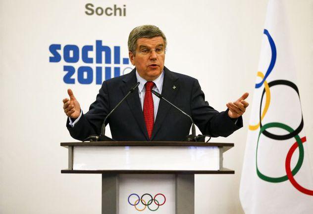 Сегодня. Сочи. Томас БАХ подводит итоги Олимпиады-2014. Фото REUTERS