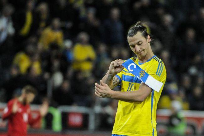 Нападающий сборной Швеции Златан Ибрагимович. Фото REUTERS