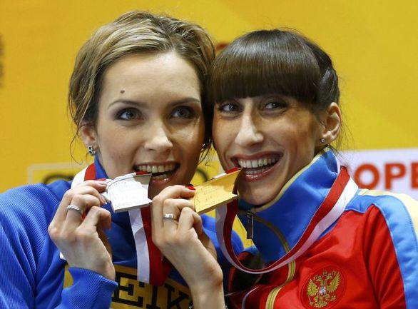 Суббота. Сопот. Екатерина КОНЕВА (справа) и Ольга САЛАДУХА. Фото REUTERS