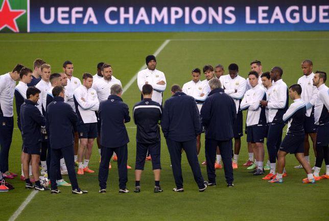 """Вторник. Барселона. """"Манчестер Сити"""" настраивается на матч года. Фото REUTERS"""