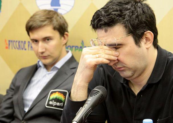 Сегодня. Ханты-Мансийск. Сергей КАРЯКИН (слева) и Владимир КРАМНИК.
