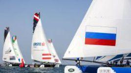Gazprom Team Russia: третье место в последней гонке второго дня этапа Extreme Sailing Series