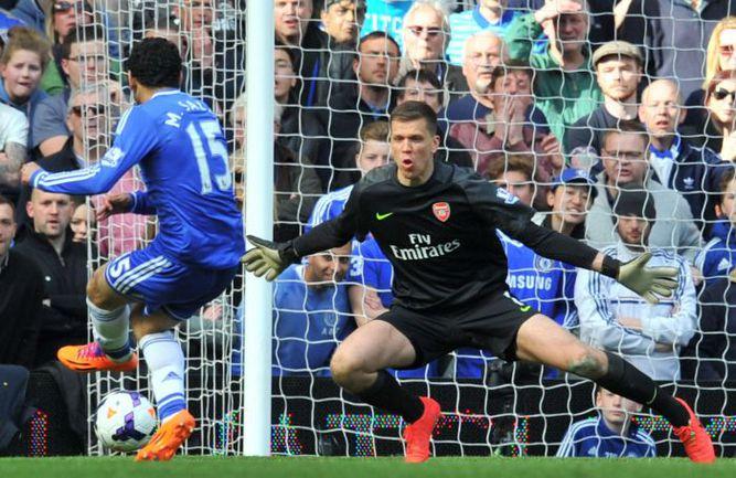 """Суббота. Лондон. """"Челси"""" - """"Арсенал"""" - 6:0. 71-я минута. Мохаммед САЛАХ забивает шестой мяч в ворота """"канониров"""". Фото AFP"""
