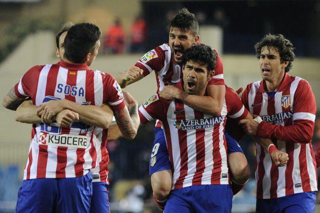 """""""Атлетико"""" празднует гол. Фото AFP"""