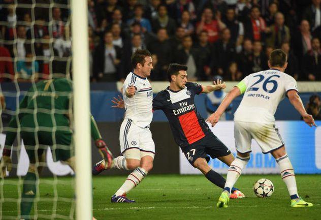 """Вчера. Париж. """"ПСЖ"""" - """"Челси"""" - 3:1. 90+3-я минута. Гол Хавьера ПАСТОРЕ. Фото AFP"""