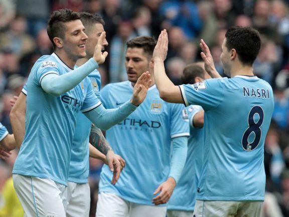 "Суббота. Манчестер. ""Манчестер Сити"" - ""Саутгемптон"" - 4:1. Хозяева разгромили соперника. Фото AFP"