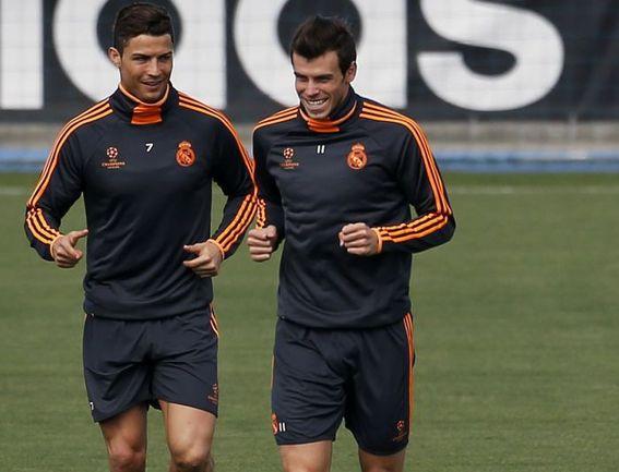 """Вчера. Мадрид. Лидеры """"Реала"""" КРИШТИАНУ РОНАЛДУ и Гарет БЭЙЛ. Фото REUTERS"""