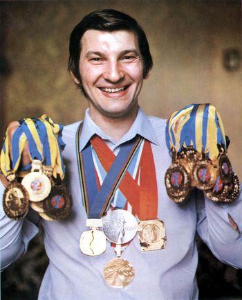 Трехкратный олимпийский чемпион, многократный чемпион мира, Европы и СССР Владислав ТРЕТЬЯК. Фото Анатолий БОЧИНИН