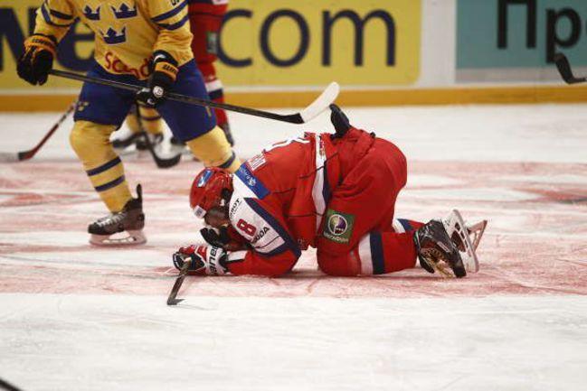 Сегодня. Стокгольм. Швеция - Россия - 2:0. Александр ОВЕЧКИН никак не может забить в Европе. Фото Aftonbladet