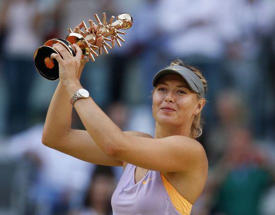 Воскресенье. Мадрид. Мария ШАРАПОВА - чемпионка Mutua Madrid Open. Фото REUTERS