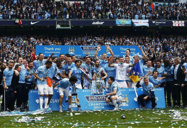 """11 мая. Манчестер. """"Манчестер Сити"""" - чемпион Англии. Фото REUTERS"""