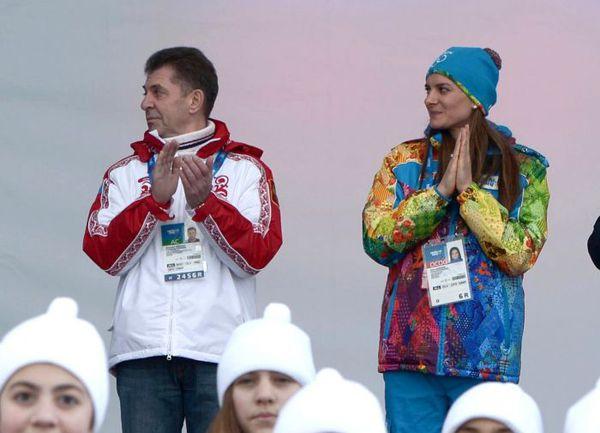Александр КРАВЦОВ и Елена ИСИНБАЕВА в Сочи. Фото REUTERS