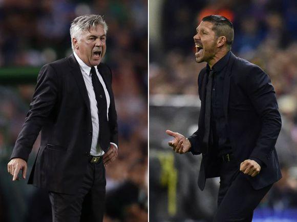 Карло АНЧЕЛОТТИ и Диего СИМЕОНЕ: кто победит в Лиссабоне? Фото AFP