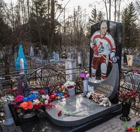 """На могиле Александра Галимова. Фото Юрий Голышак, """"СЭ"""""""