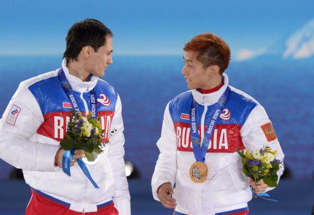 Февраль. Сочи. Владимир ГРИГОРЬЕВ и Виктор АН. Фото AFP