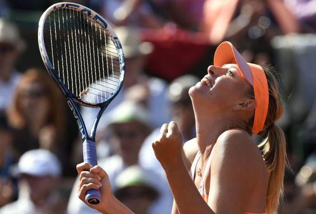 Четверг. Париж. Секунду назад Мария ШАРАПОВА оформила выход в финал Roland Garros. Фото AFP